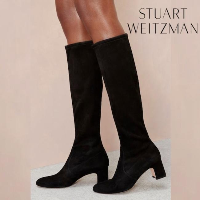 Item - Black Milla Stretch Heeled Knee High Suede Boots/Booties Size US 6 Regular (M, B)