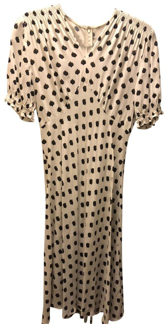 Item - White/Blue Dvf Wrap Mid-length Short Casual Dress Size 2 (XS)