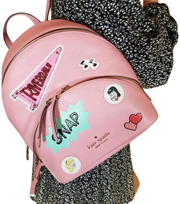 Item - Archie Comics Betty Veronica Pink Black Blue Leather Backpack