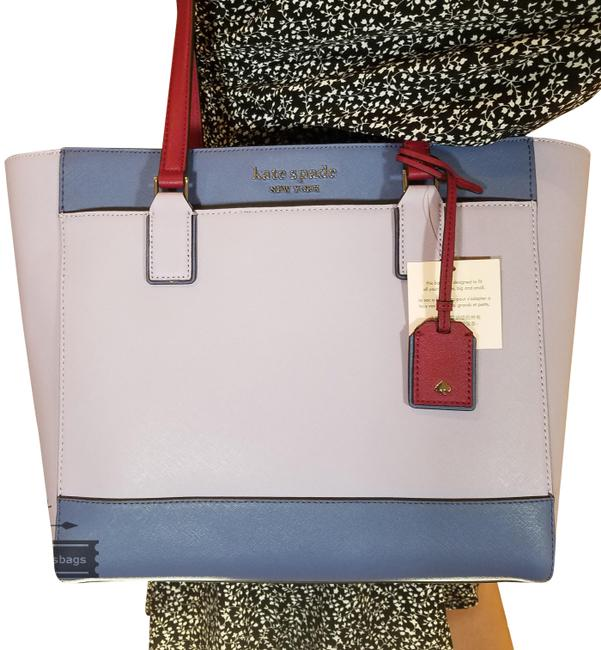 Item - Cameron Laptop Frozen Lilac Leather Tote