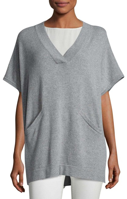 Eileen Fisher Ash V-neck Poncho-style Lofty Recycled Cashmere Tunic Size 16 (XL, Plus 0x) Eileen Fisher Ash V-neck Poncho-style Lofty Recycled Cashmere Tunic Size 16 (XL, Plus 0x) Image 1