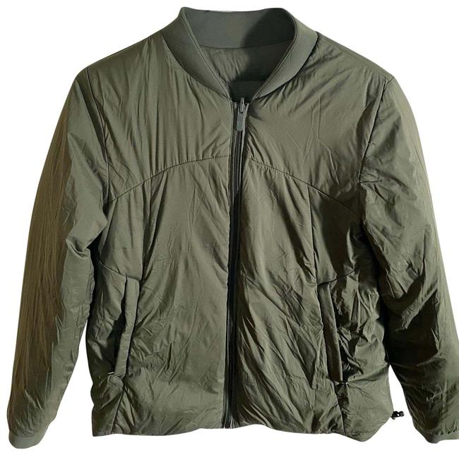 Item - Moss Green Reversible Down Puff Jacket Activewear Size 8 (M)