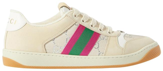Item - Beige Screener Suede and Canvas-trimmed Printed Leather Sneakers Size EU 38 (Approx. US 8) Regular (M, B)