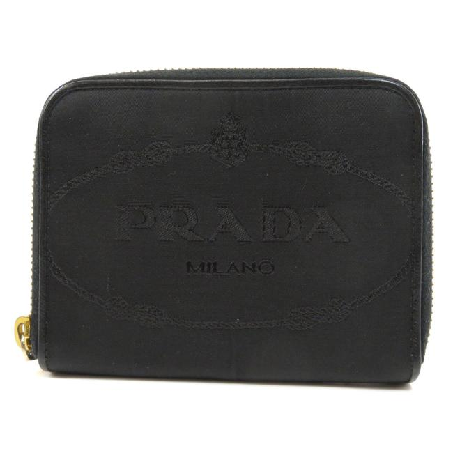 Item - Black Logo Bi-fold Nylon Ladies Wallet