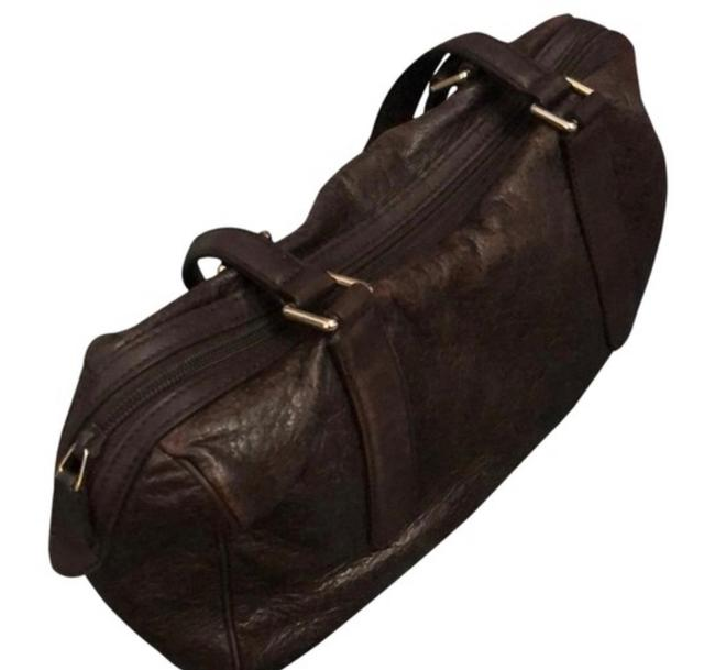 Item - ssima and Tote Combo Discount If You Buy Both Chocolate Lambskin Leather Weekend/Travel Bag
