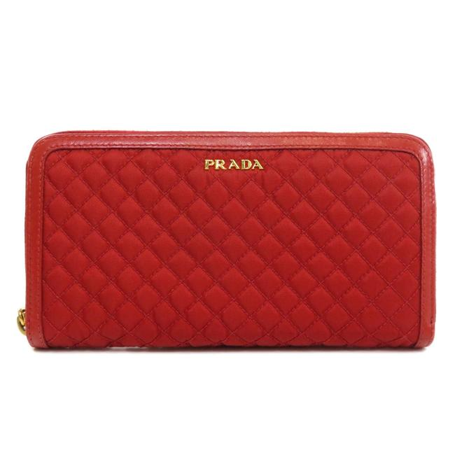 Item - Red Color Long 2m1317 Matrasse Canvas Ladies Wallet