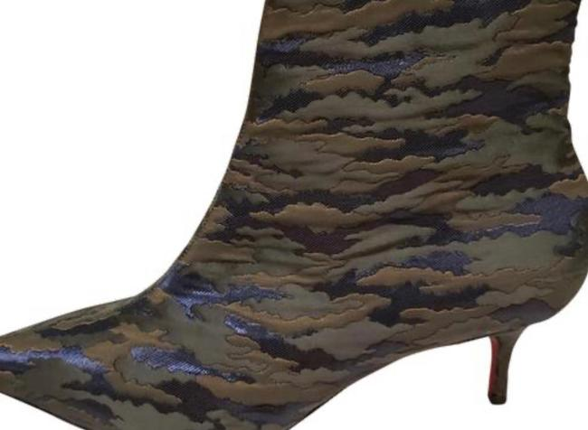 Christian Louboutin Jacguard Green Camouloubi So Kate Ankle Boots/Booties Size EU 39 (Approx. US 9) Regular (M, B) Christian Louboutin Jacguard Green Camouloubi So Kate Ankle Boots/Booties Size EU 39 (Approx. US 9) Regular (M, B) Image 2