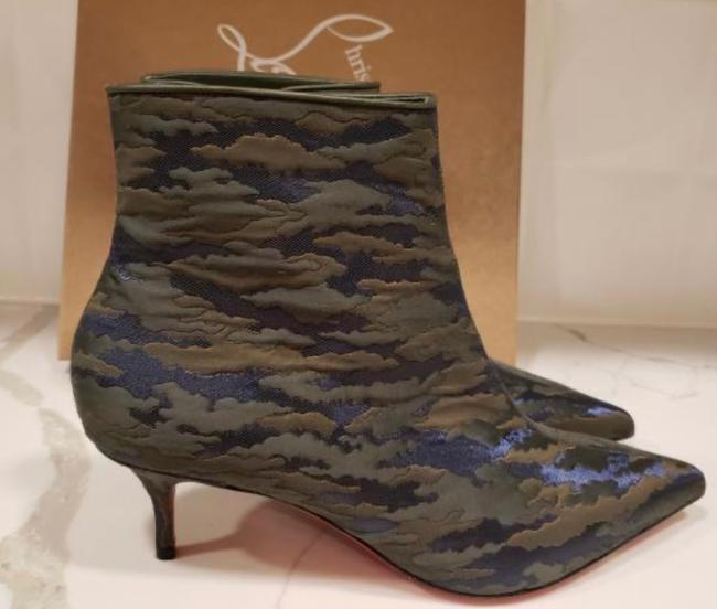 Christian Louboutin Jacguard Green Camouloubi So Kate Ankle Boots/Booties Size EU 39 (Approx. US 9) Regular (M, B) Christian Louboutin Jacguard Green Camouloubi So Kate Ankle Boots/Booties Size EU 39 (Approx. US 9) Regular (M, B) Image 4