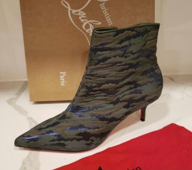 Christian Louboutin Jacguard Green Camouloubi So Kate Ankle Boots/Booties Size EU 39 (Approx. US 9) Regular (M, B) Christian Louboutin Jacguard Green Camouloubi So Kate Ankle Boots/Booties Size EU 39 (Approx. US 9) Regular (M, B) Image 5