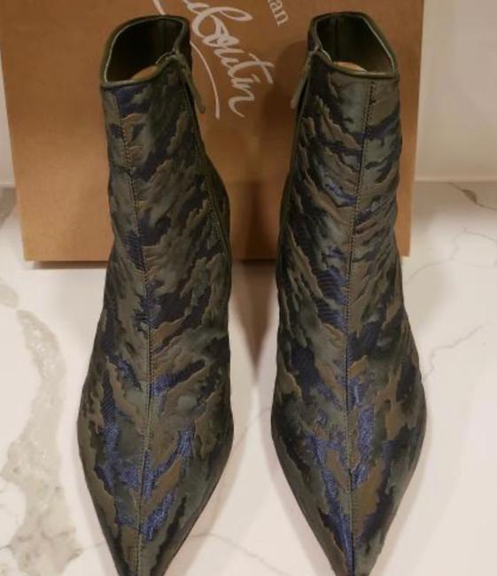 Christian Louboutin Jacguard Green Camouloubi So Kate Ankle Boots/Booties Size EU 39 (Approx. US 9) Regular (M, B) Christian Louboutin Jacguard Green Camouloubi So Kate Ankle Boots/Booties Size EU 39 (Approx. US 9) Regular (M, B) Image 7