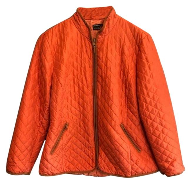 Item - Orange Brown Exclusively For Lord & Taylor Diamond Quilted Jacket Size 8 (M)