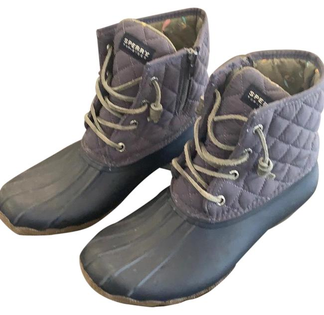 Item - Matte Navy with Grey Quilted Uppers Boots/Booties Size US 8 Regular (M, B)