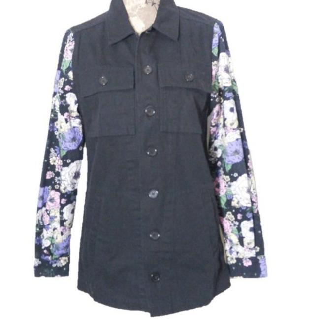 Item - Black White XS Jean Coat Jacket Size 2 (XS)