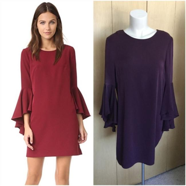 MILLY Purple Cady Bell Sleeve Short Casual Dress Size 12 (L) MILLY Purple Cady Bell Sleeve Short Casual Dress Size 12 (L) Image 2