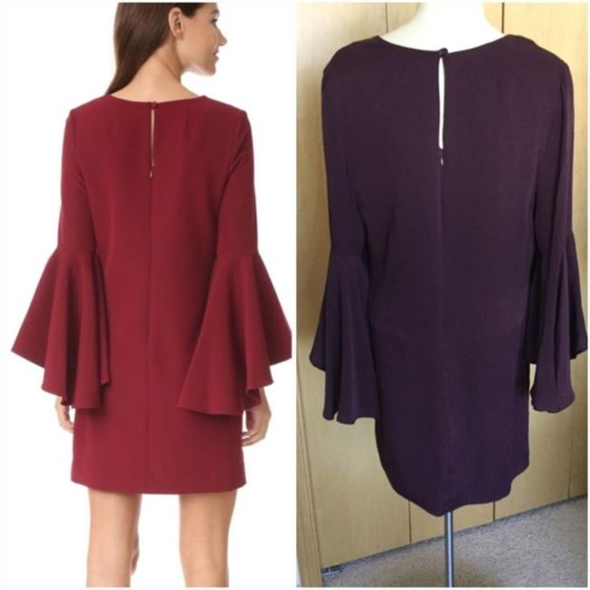 MILLY Purple Cady Bell Sleeve Short Casual Dress Size 12 (L) MILLY Purple Cady Bell Sleeve Short Casual Dress Size 12 (L) Image 3