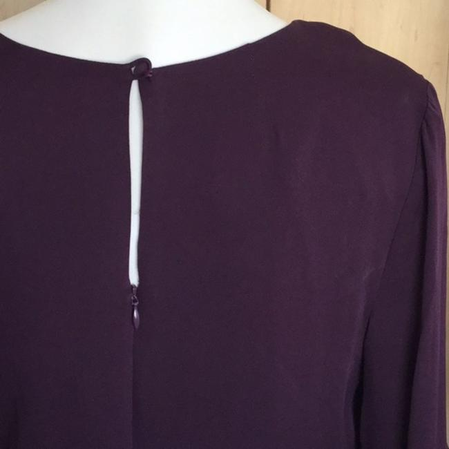 MILLY Purple Cady Bell Sleeve Short Casual Dress Size 12 (L) MILLY Purple Cady Bell Sleeve Short Casual Dress Size 12 (L) Image 4
