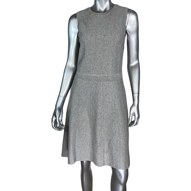 Ann Taylor Gray Fit Flare Short Casual Dress Size 4 (S) Ann Taylor Gray Fit Flare Short Casual Dress Size 4 (S) Image 1