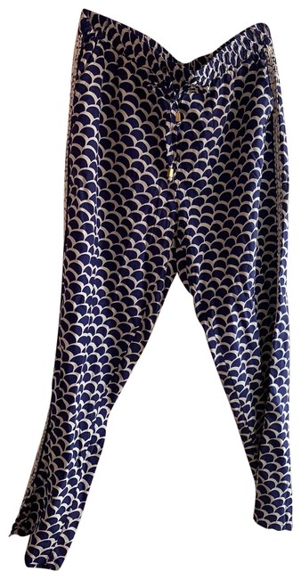 Item - Blue and Ivory Pants Capris Size 6 (S, 28)