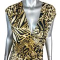 Cache Brown L Flower Animal Print Blouse Size 12 (L) Cache Brown L Flower Animal Print Blouse Size 12 (L) Image 4