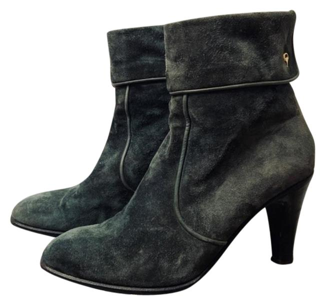 Item - Green 1970's Suede Boots/Booties Size EU 38 (Approx. US 8) Regular (M, B)