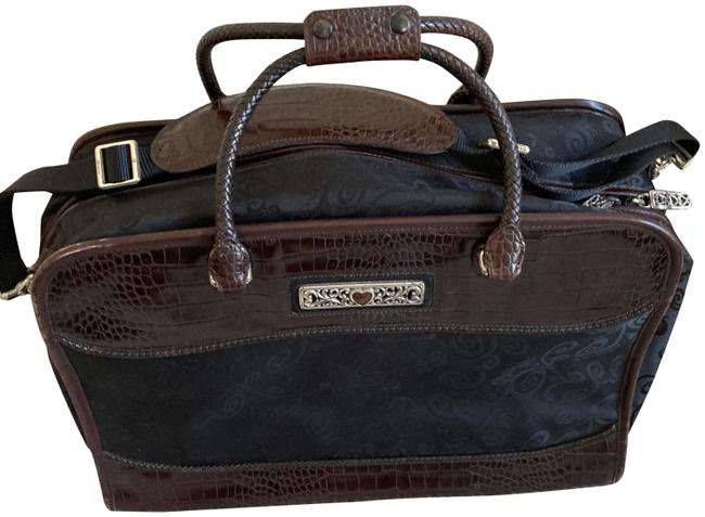 Brighton Black & Brown Leather Trim Weekend/Travel Bag Brighton Black & Brown Leather Trim Weekend/Travel Bag Image 1