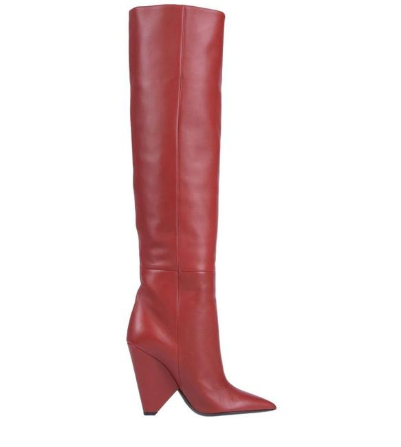 Item - Red Niki Leather Knee Boots/Booties Size EU 39.5 (Approx. US 9.5) Regular (M, B)