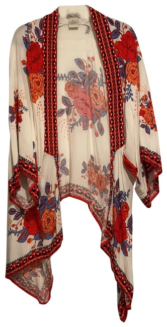 Item - Red Blue White Orange Pink Cover-up/Sarong Size 10 (M)