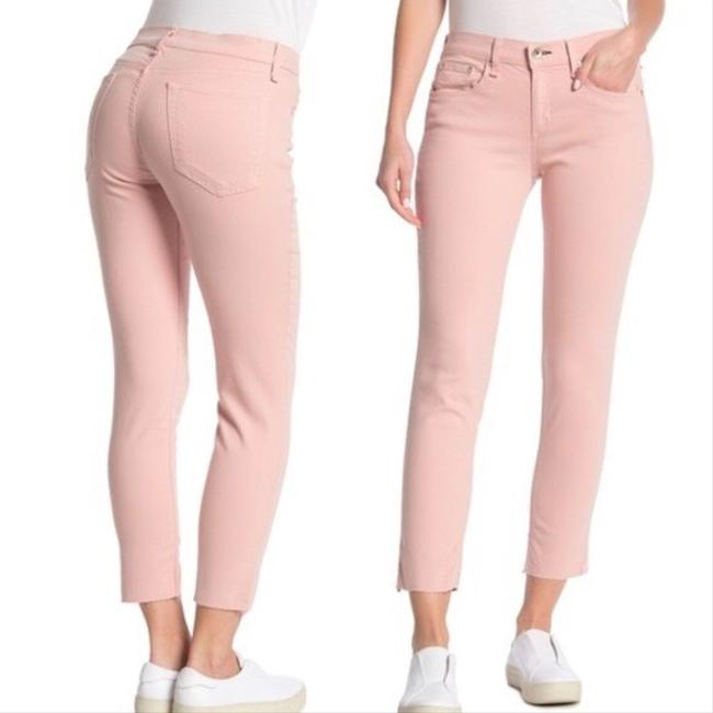 Item - Pink And Blush Raw Hem Ankle Straight Leg Jeans Size 6 (S, 28)