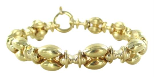 Preload https://item1.tradesy.com/images/italy-14kt-yellow-gold-puffy-bracelet-made-in-italy-marquis-design-link-18-gram-bangle-2811235-0-0.jpg?width=440&height=440