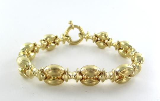 Other 14KT YELLOW GOLD PUFFY BRACELET MADE IN ITALY MARQUIS DESIGN LINK 18 GRAM BANGLE
