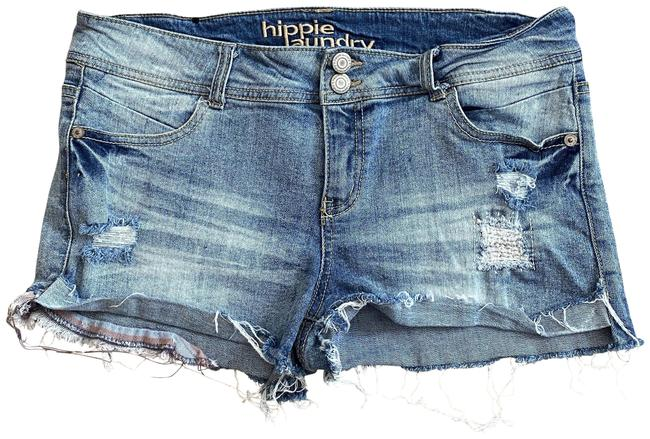Item - Multicolor 30 Distressed Partial Cuffed Cutoff Fringe Hem Denim Shorts Size 8 (M, 29, 30)