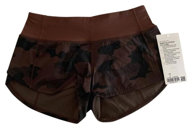 """Item - Brown Speed Up 2.5"""" Heritage 365 Camo Earth Multi / Earth Activewear Bottoms Size 2 (XS, 26)"""