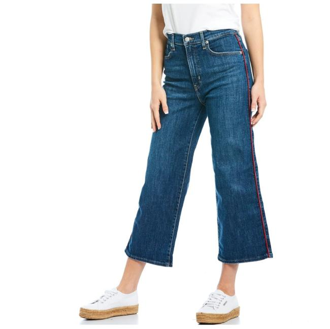 Item - Denim Light Wash New Mile High Rise Wide Pipe Down Flare Leg Jeans Size 32 (8, M)