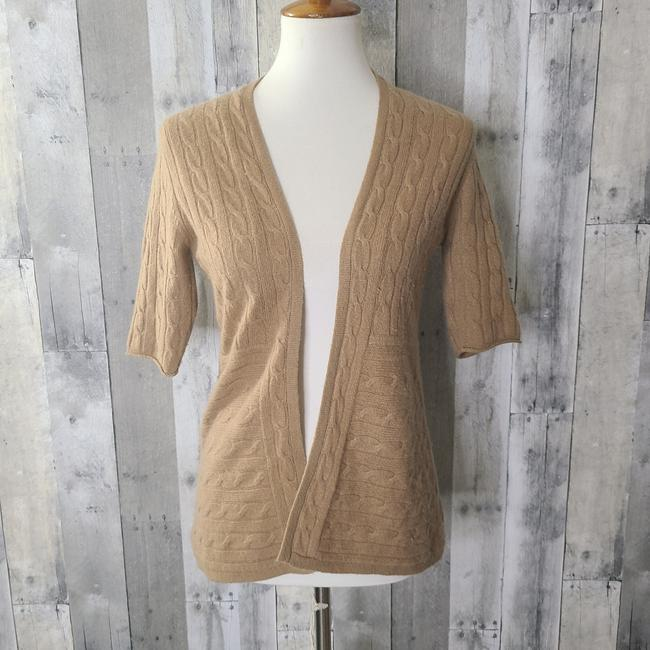 Item - Tan Cashmere Open Front Cardigan Size 4 (S)