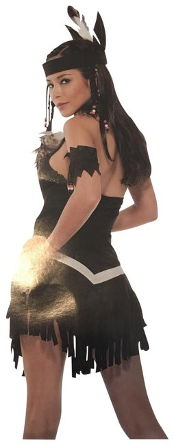 Item - Black Girl Halloween Custom Sexy Indian Mid-length Night Out Dress Size 6 (S)
