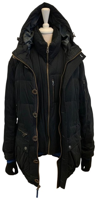 Item - Black Down Puffer Coat Size OS (one size)