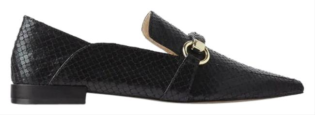 Item - Black Animal Embossed Pointed Toe Loafers 1508/510 Mules/Slides Size US 8 Regular (M, B)