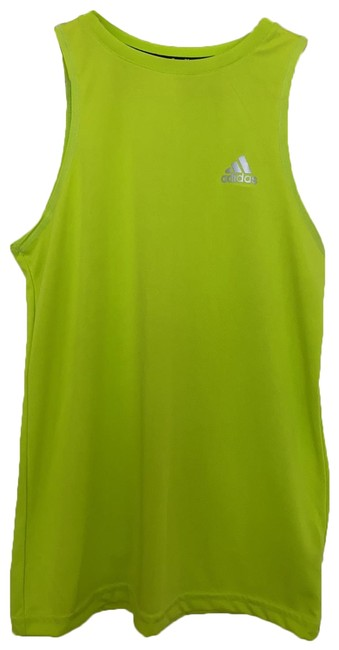 Item - Neon Green Muscle Shirt Activewear Sportswear Size 10 (M)