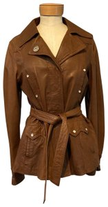 Dolce&Gabbana Brown Leather Jacket