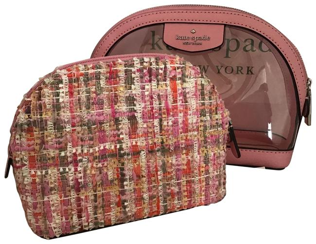 Item - Pink/Multi Medium Dome 2 Piece Set Cosmetic Bag