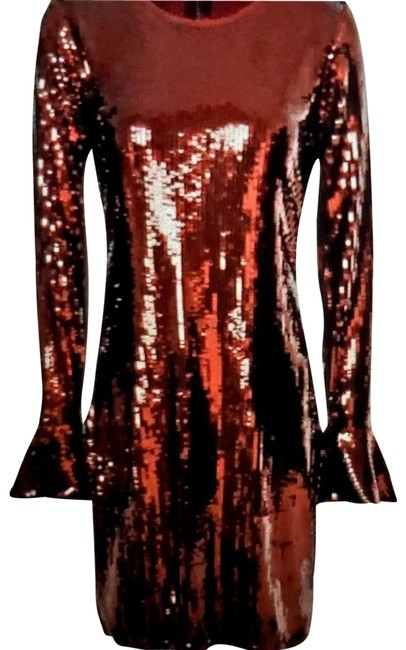Item - Copper Brown Sheath Mid-length Night Out Dress Size 2 (XS)