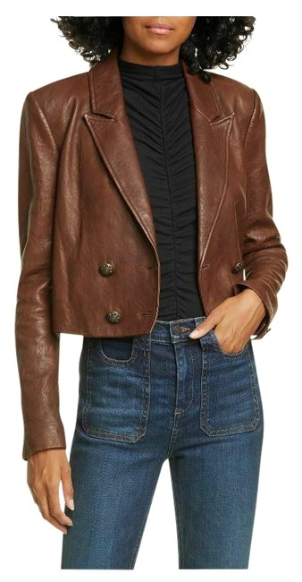 Item - Brown Theo Double Breasted Crop Jacket Size 2 (XS)