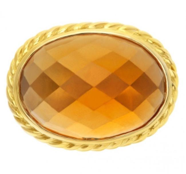 Item - Faceted Oval Citrine 18kgold with Sterling Silver Ring