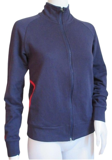 Item - Navy Blue Women's Cotton Pants Jacket Tracksuit Activewear Sportswear Size 8 (M, 29, 30)