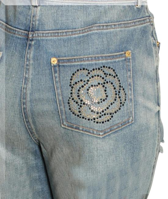Item - Blue Distressed Marie (Classic Rise) Straight Leg Jeans Size 31 (6, M)