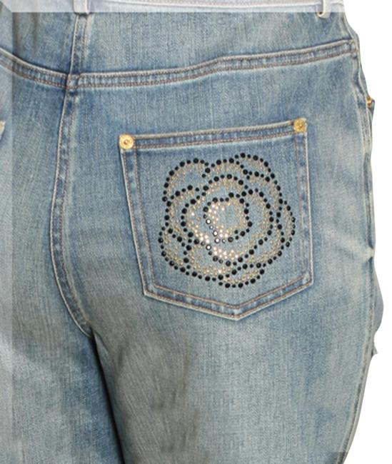 Item - Blue Distressed Marie (Classic Rise) Straight Leg Jeans Size 33 (10, M)