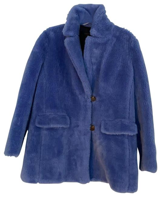 Item - Blue Faux Coat Size 8 (M)