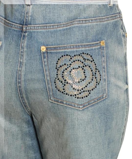 Item - Blue Distressed Helen ( Mid Rise) Straight Leg Jeans Size 28 (4, S)