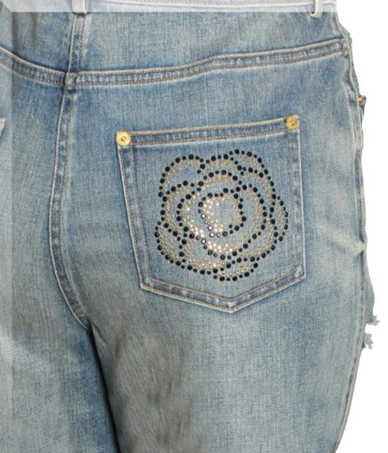 Item - Blue Distressed Helen (Mid Rise) Straight Leg Jeans Size 26 (2, XS)