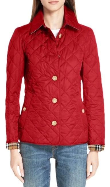 Item - Military Red Frankby 18 Quilted Jacket Size 6 (S)